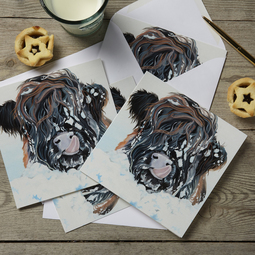 Highland Cow in Snow Christmas Cards
