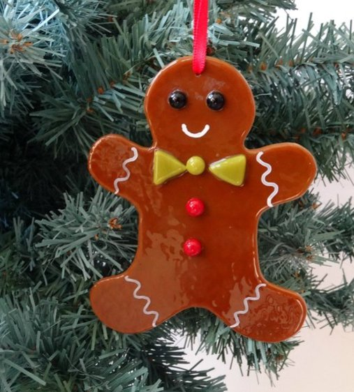Fused Glass Ginger Bread Man