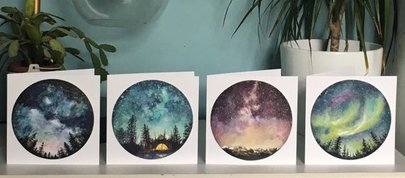 Starry Sky Cards by Charis Raine