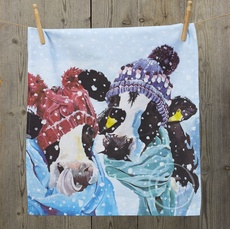 Christmas Dish Towel by Lauren's Cows