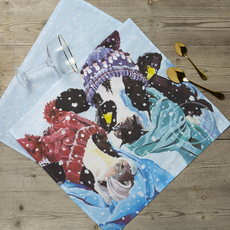 Alfie Highland Calf Tea Towel by Lauren's Cows