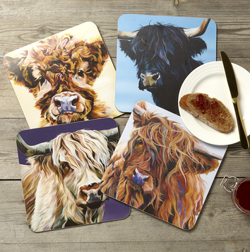 Highland Cow Placemats from Lauren's Cows