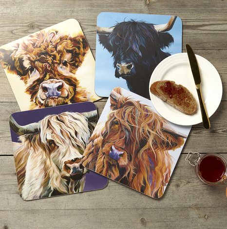 Highland Cow Placemats by Lauren's Cows