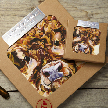 Highland Cow Placemats and Coasters