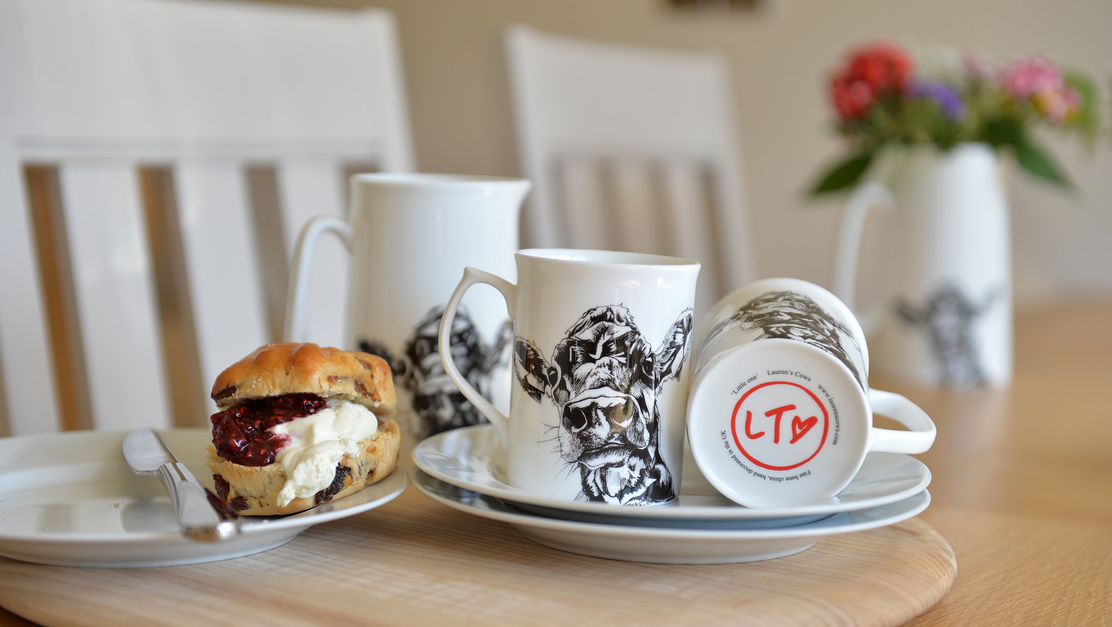 Cow Cup and Cream Tea from Lauren's Cows