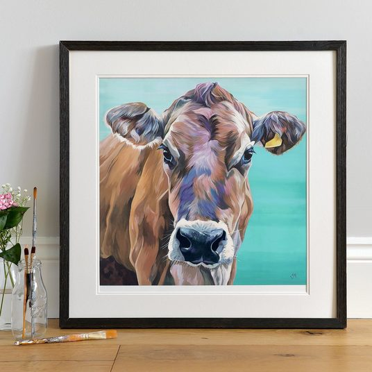 Sweet Jersey Cow Painting by Lauren Terry