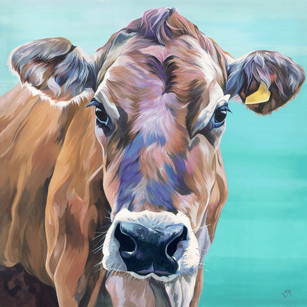Jersey Cow Painting by Lauren Terry
