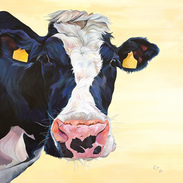 Holstein Cow Painting