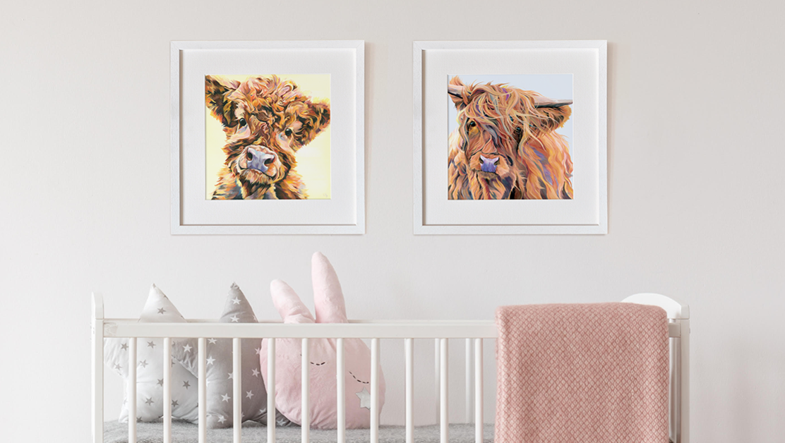 Highland Cow Baby's Room