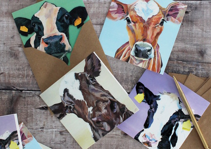 Set of Cow Notecards