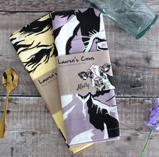 Set of Two Dairy Cow Tea Towels