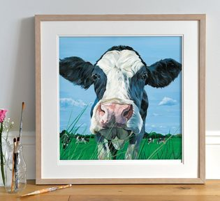 Curious Dairy Cattle painting by Lauren's Cows