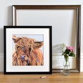 Scarlett by Lauren's Cows framed Black