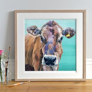 Limited Edition Print of a Jersey Cow