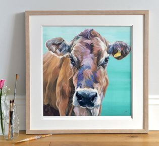 Jersey limited edition print 'Melody'
