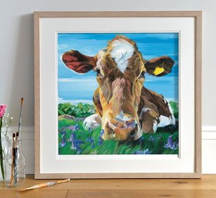 Jersey Cow painting by Lauren's Cows
