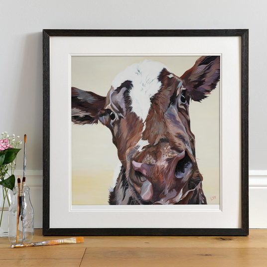 Sweet Ayrshire Cow Print by Lauren Terry