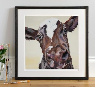 Ayrshire Cow Art Print by Lauren Terry