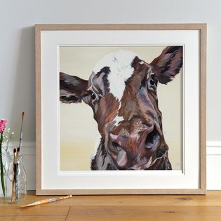 Friendly Ayrshire Cow Print