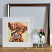 Ted, Art Print framed White