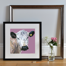 'Hermione' Open Edition print framed Black