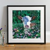 Posy Large Print in a Dark wood frame