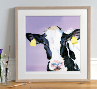Farm Yard Nursery Print by Lauren's Cows
