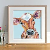 Juliet Jersey Calf Picture framed in Light Wood