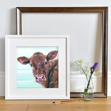 Jersey Calf painting by Lauren's Cows