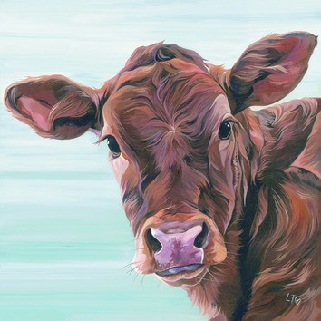 Limousin Calf painting 'Marina' by Lauren Terry