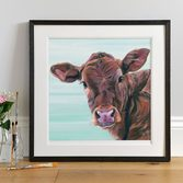 Framed Limousin Calf painting
