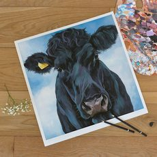 Unmounted Ebony Print by Lauren's Cows