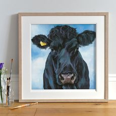 'Ebony' Welsh Black Cow painting by Lauren's Cows