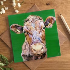 Copper Cow Card