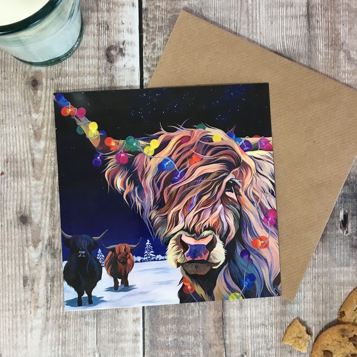 Highland Cows Christmas Card