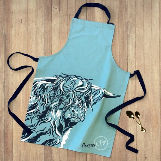 Highland Bull Apron by Lauren's Cows