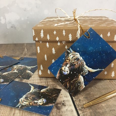 Highland Cow Christmas Wrapping