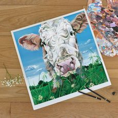 unmounted limited edition print of a curious cow