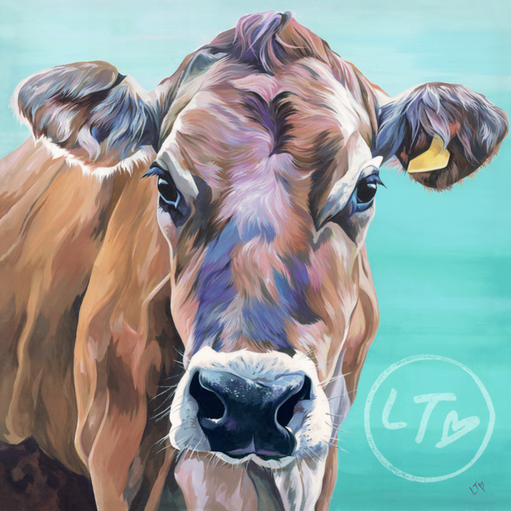 Jersey Cow 'Melody' Original Painting