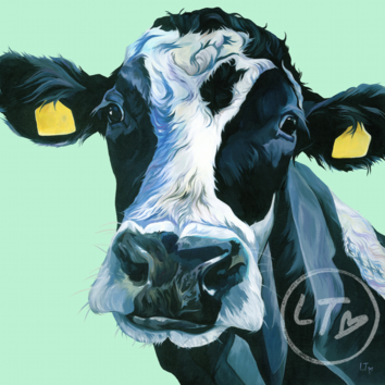 Dairy Cow portrait by Lauren's Cows