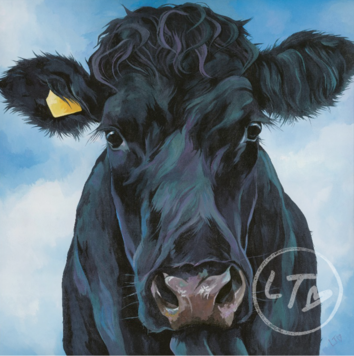 Painting of British White Cattle by Lauren's Cows