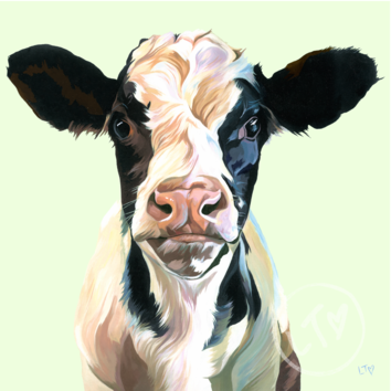 Friesian Calf painting Frank