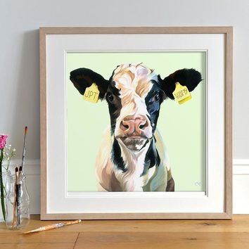 Personalised Cow Art by Lauren Terry