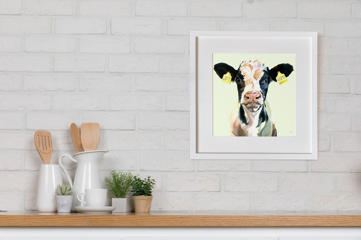 Peronalised Frank Print by Lauren's Cow