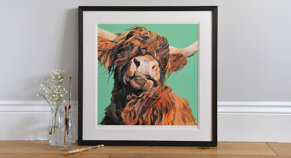 Wallace, Bight Limited Edition Print of a Highland Cow
