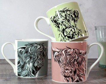 Highland Cow Mug Set