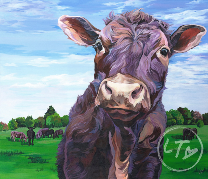 Curious Cow painting for the country home.