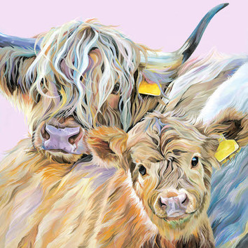 Highland Cow and Calf full of character by Lauren's Cows