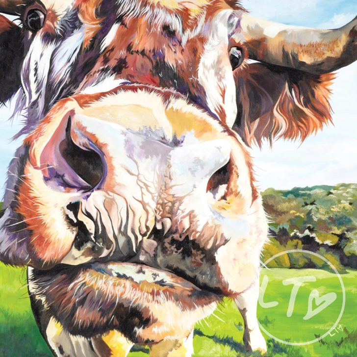 Holly, limited edition of a longhorn cow Lauren's Cows