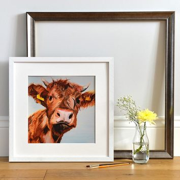 Open Edition Print of a Scottish Highland Calf